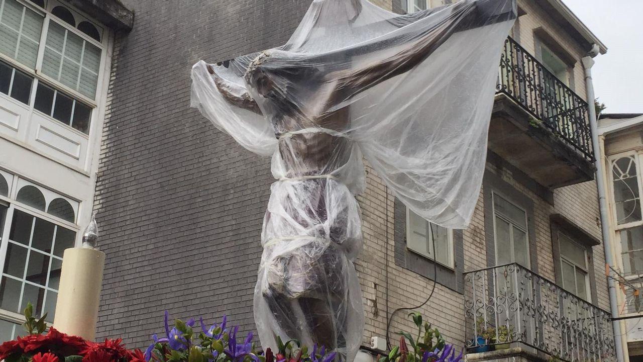 Miércoles Santo   Suspensión por la lluvia de la Procesión del Cristo de los Navegantes
