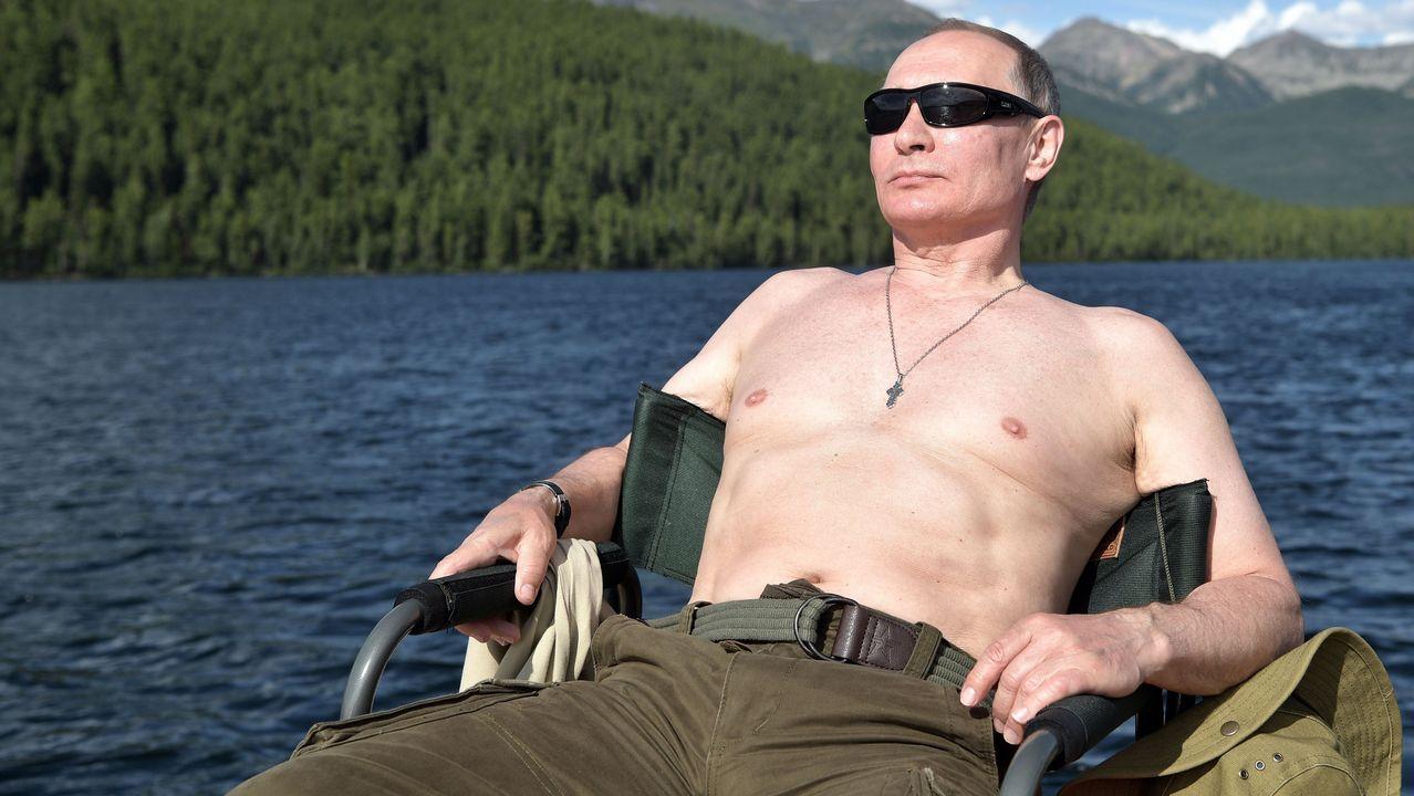 Putin de vacacionesen Siberia.Donald Trump