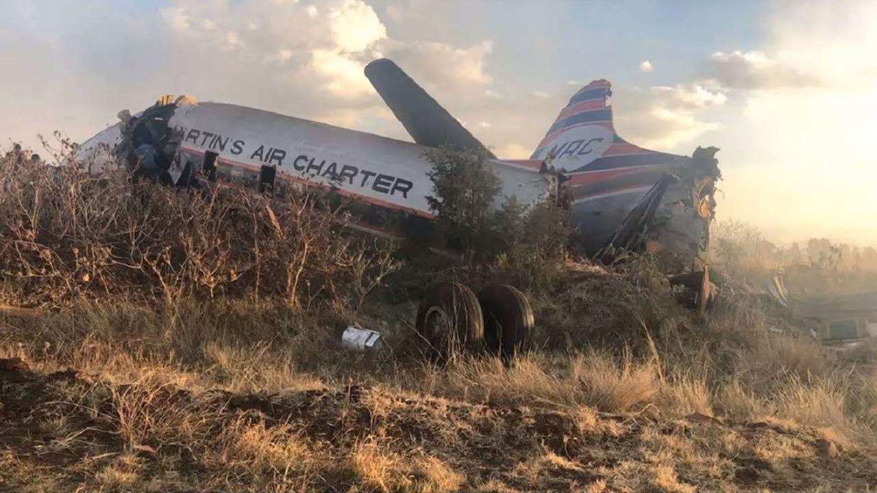 Graba en vídeo el accidente del avión en el que viajaba.Paisaje seco de Ponga