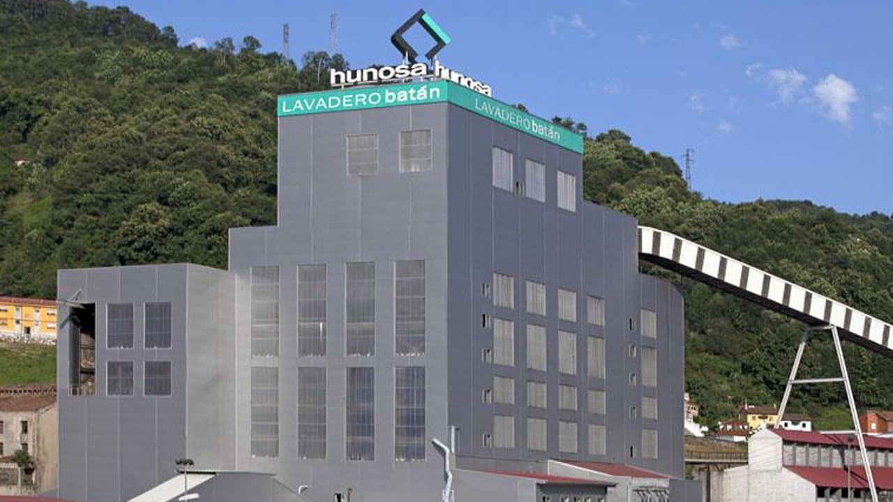 La mayoría de los trabajadores del lavadero del Batán son de una empresa subcontratada por Hunosa