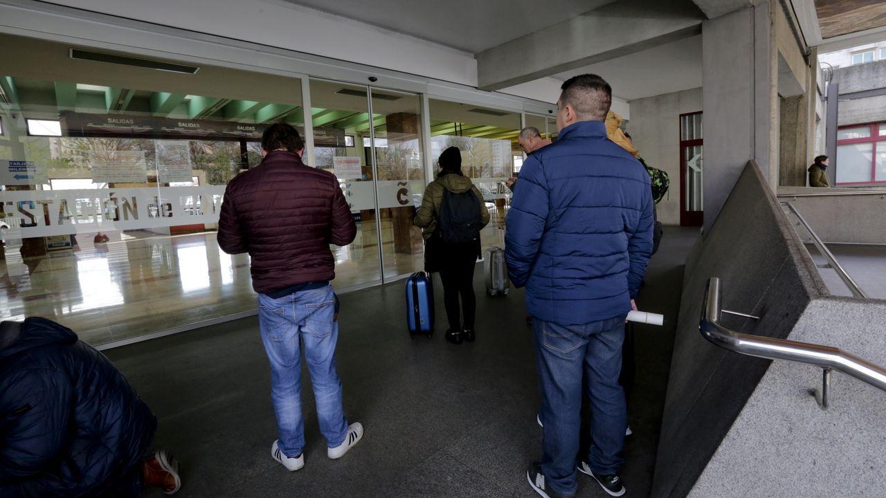La estación de autobuses de A Coruña, cerrada