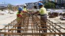 La construcción de Vialia se cobra grandes cantidades de acero y vidriería.
