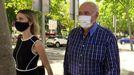 José Luis Moreno, acompañado por su abogada, saliendo de los juzgados el día 4 de agosto