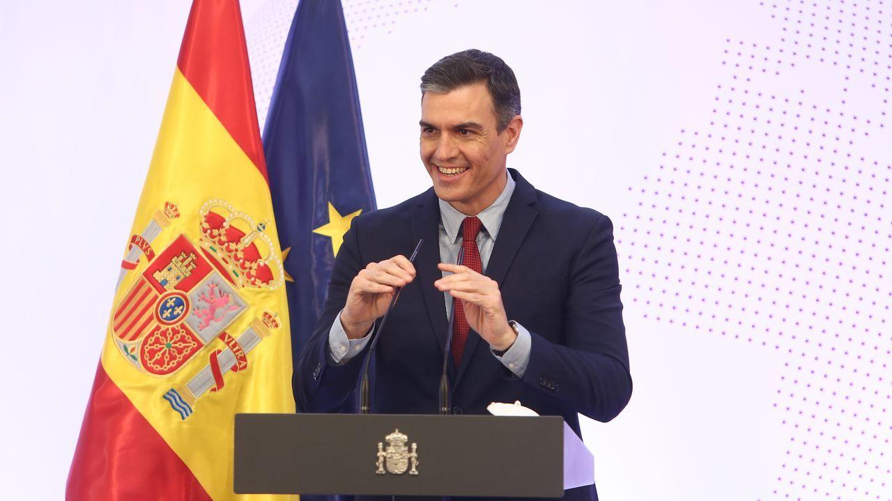 Pedro Sánchez, este miércoles durante el acto de presentación de la Guía de la Política Exterior Feminista