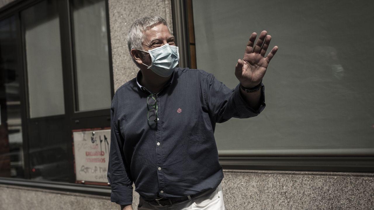 Miguel Caride, tras la fallida reunión que esta semana trató de resolver la crisis de Democracia Ourensana