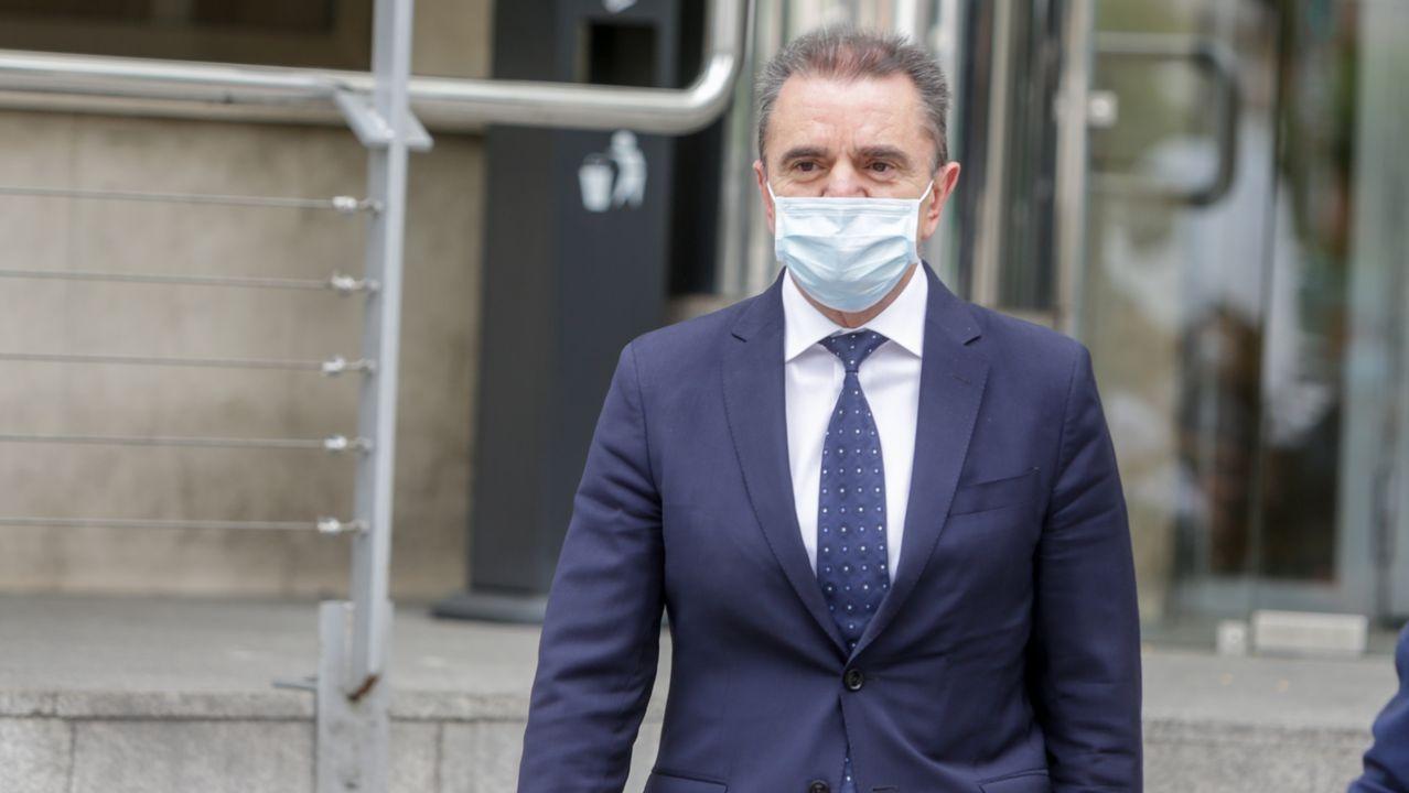 supremo.El delegado del Gobierno en Madrid, José Manuel Franco, a su salida tras declarar ante la jueza