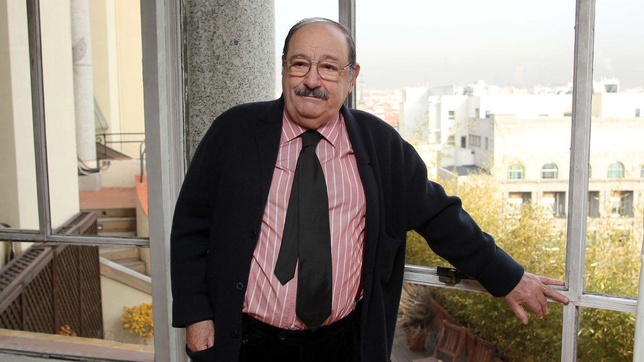 Umberto Eco, el 14 de diciembre del 2010, durante la presentación en Madrid de su novela «El cementerio de Praga».