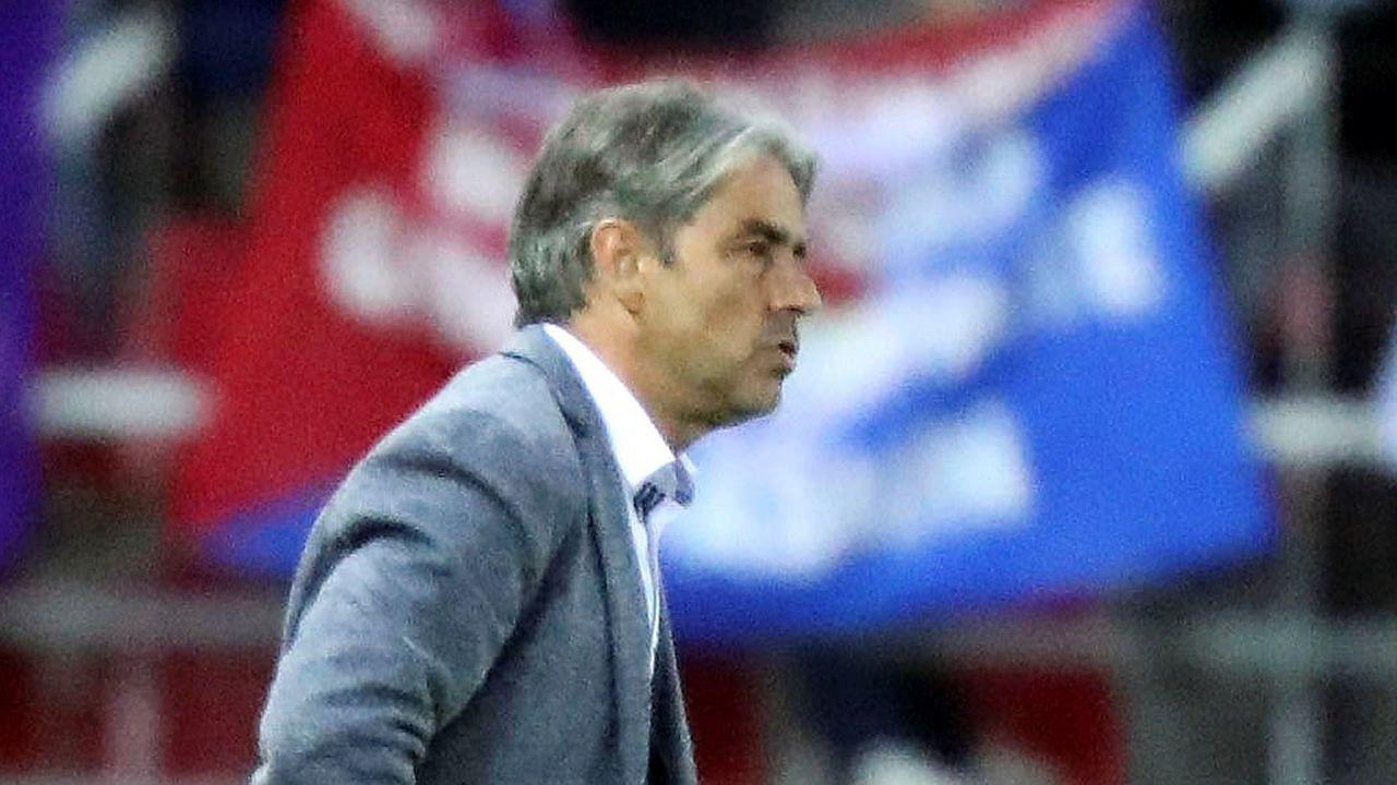 El paso de Natxo por el Deportivo en imágenes.Natxo González, en un partido con el Zaragoza