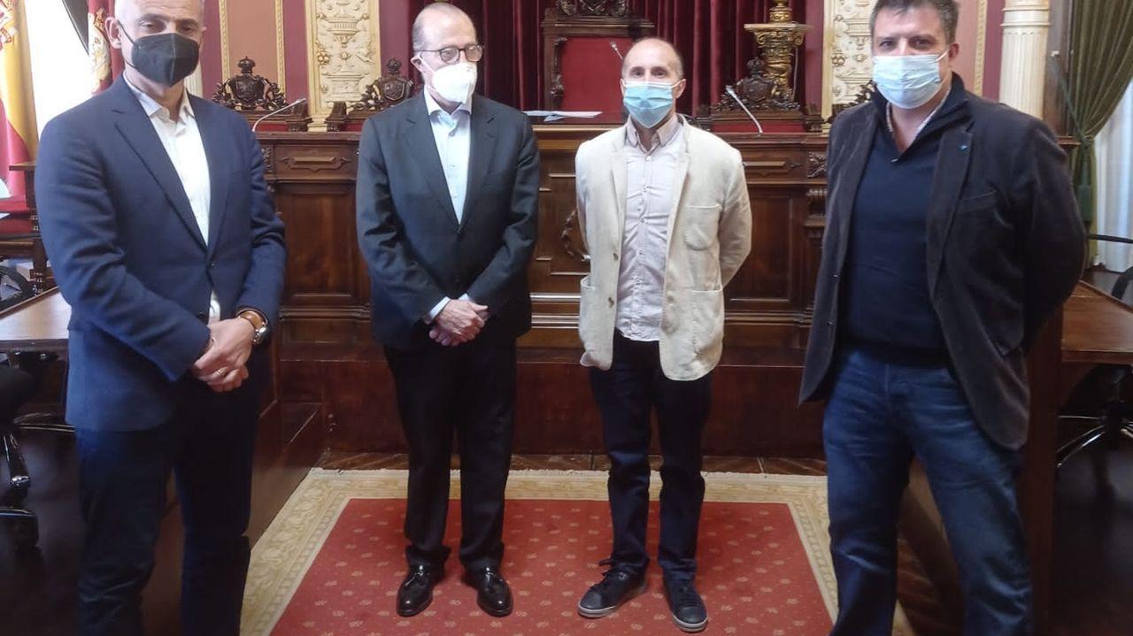 Manu García, María López, Saúl Craviotto, Raúl Entrerríos y Pablo Carreño