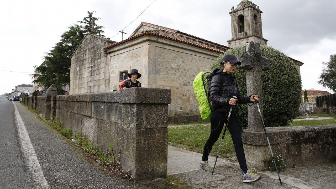Díaz Mouteira en una reciente visita a Parada de Sil