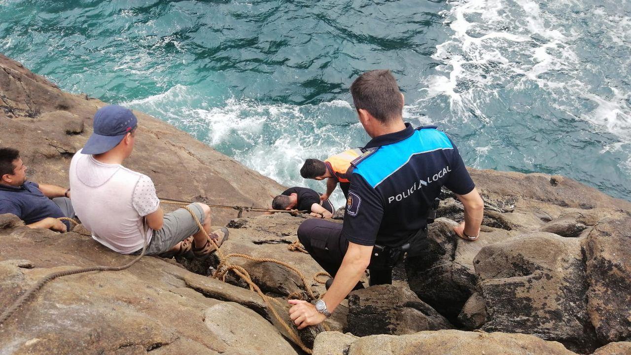 No pudo ser para el Baio, que cayó en casa ante el Esteirana.Momento del rescate del pescador, que estaba en una situación crítica