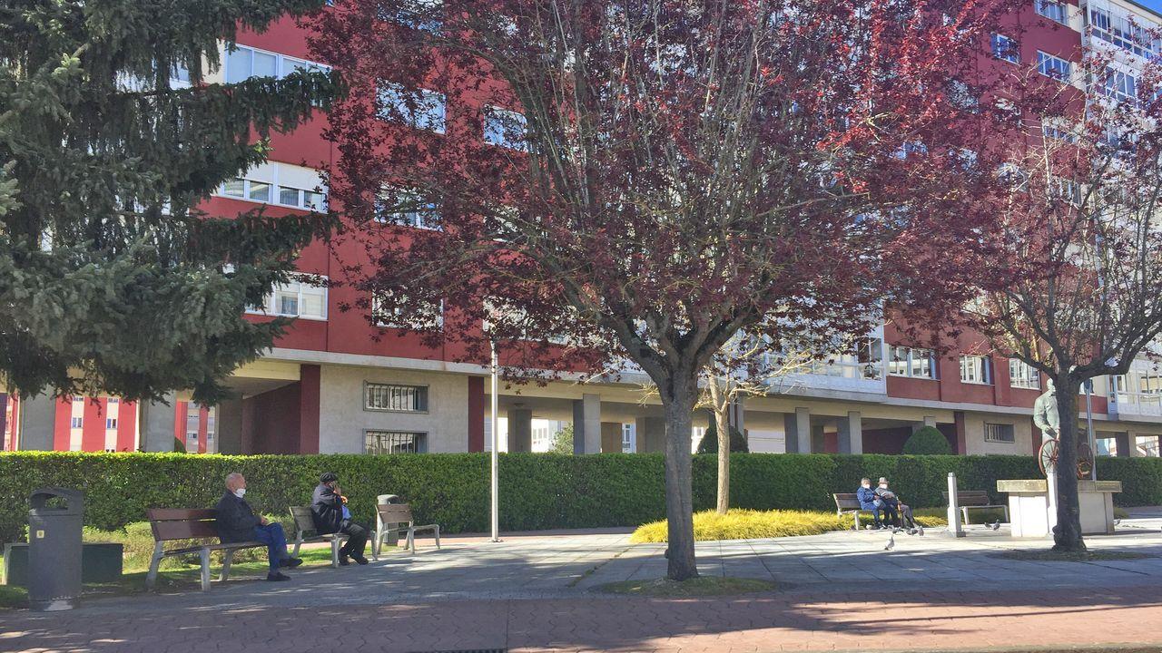 Los ejemplos de espacios públicos de Lugo que funcionan.Recreación de la fuura Intermodal de Lugo, una de las novedades del proyectos de presupuestos del 2021