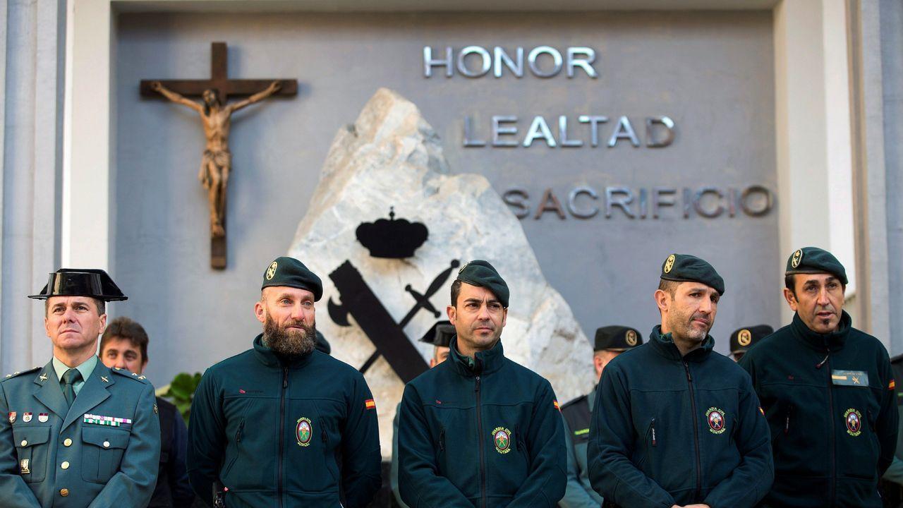  EFE.Los agentes de montaña de la Guardia Civil que participaron durante 13 días en el operativo de rescate de Julen en Totalán