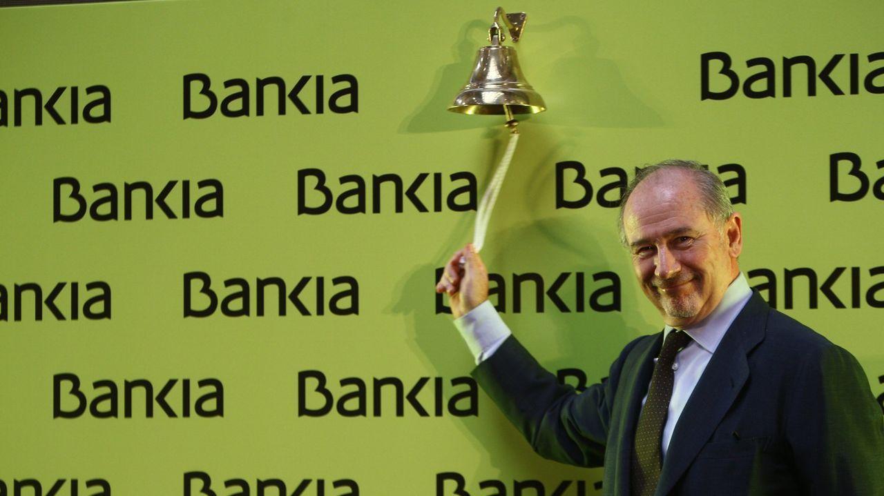 Rodrigo Rato.Bankia salió a bolsa en junio del 2011, con Rodrigo Rato como presidente