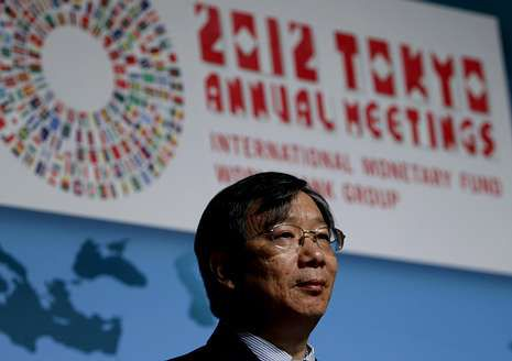 El vicegobernador del Banco Popular de China, ayer en Japón.