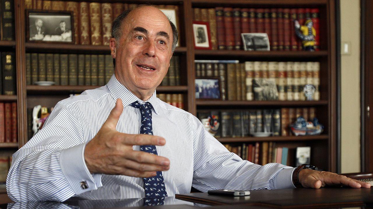 Alfonso Paz-Andrade, en el 2009,  durante una entrevista concedida a La Voz de Galicia