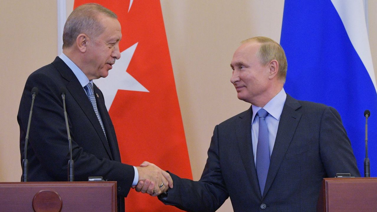 Erdogan y  Putin, durante su último encuentro en octubre en el balneario ruso de Sochi