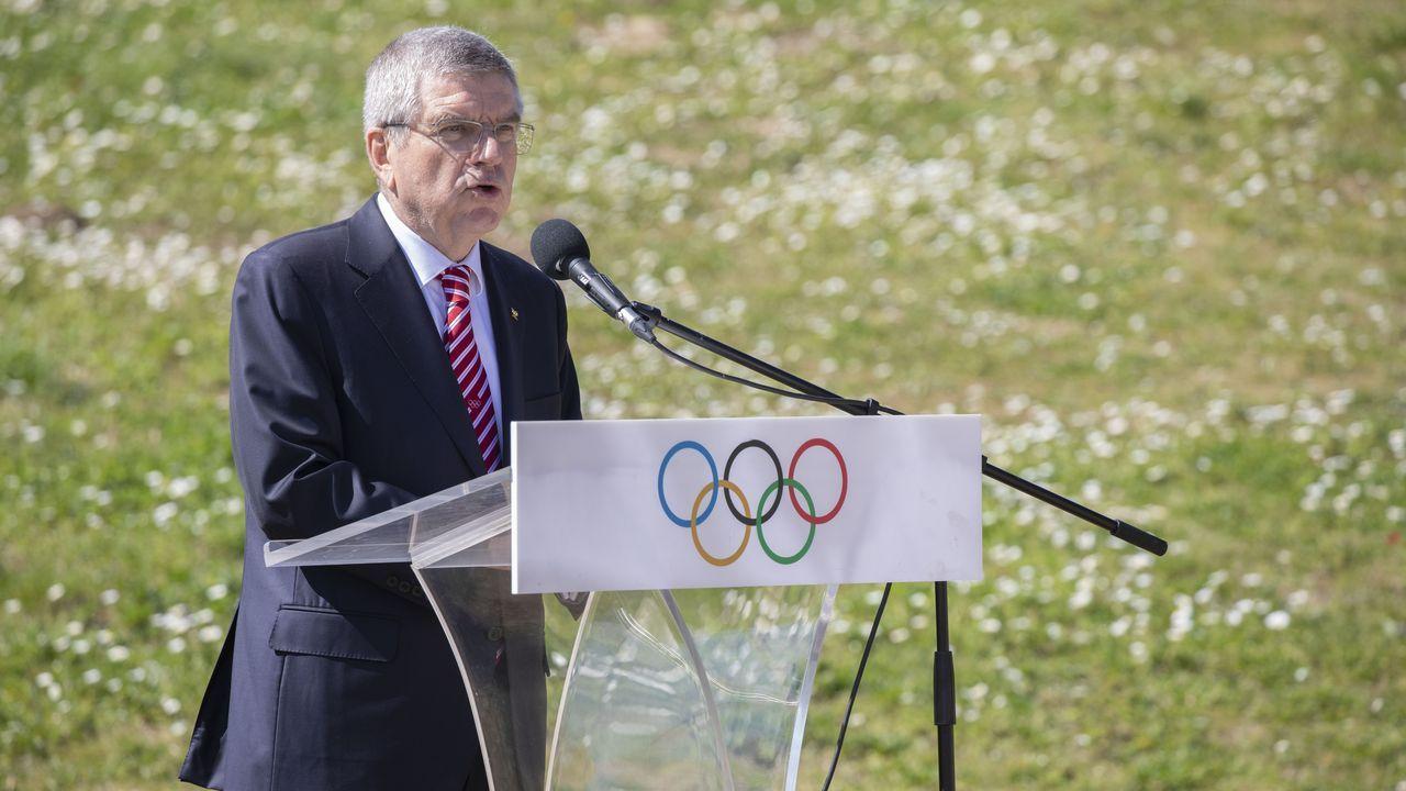 El presidente del COI, Thomas Bach