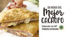 Cartel publicitario del Consejo Regulador de la I.G.P. Ternera Asturiana para la IV edición del concurso nacional «En busca del Mejor Cachopo elaborado con Ternera Asturiana I.G.P.»