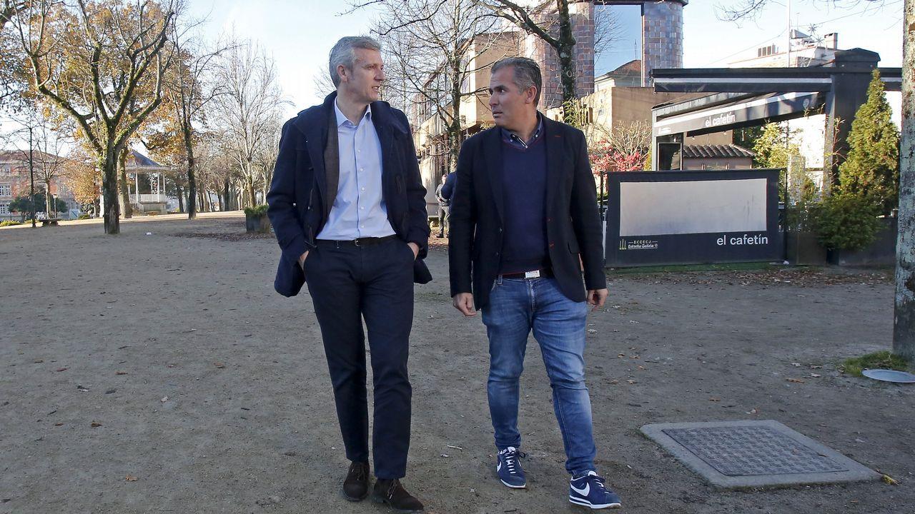 Visita de Feijoo a Vimianzo y Buño.Rueda de prensa de Núñez Feijoo tras el Consello de la Xunta