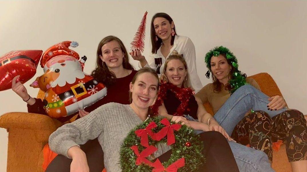 Las jugadoras del Ensino Lugo celebraron juntas la Navidad