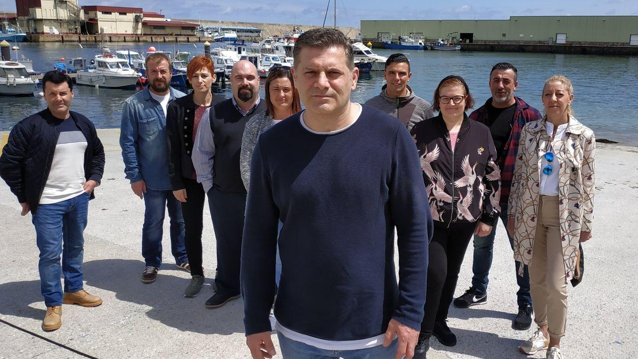 Los miembros del comité de huelga, los socialistas (de izquierda a derecha) Anguiano, Largo Caballero, Besteiro y Saborit, presos en la cárcel de Cartagena a cadena perpetua por rebelión.