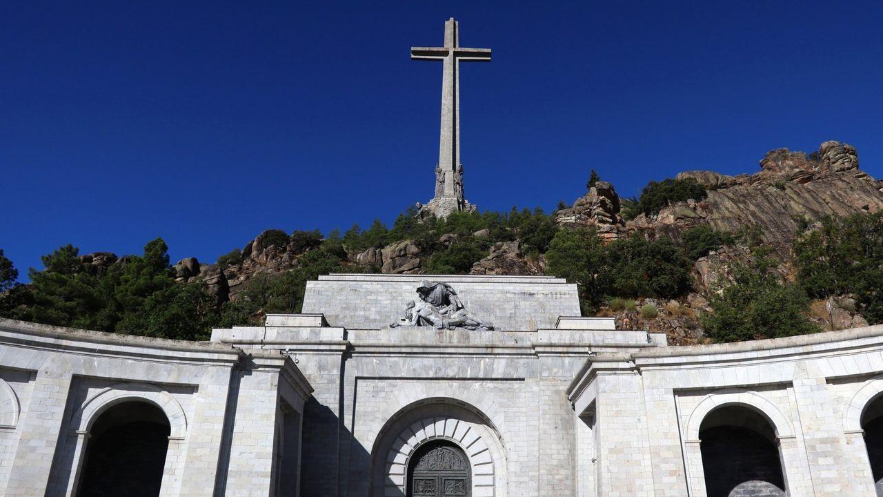 Imagen del santuario del Valle de los Caídos, donde se encuentra por ahora la tumba de Francisco Franco