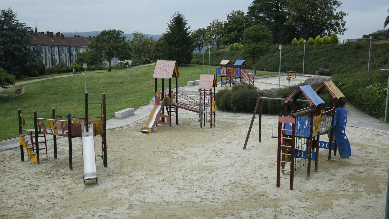 Los parques infantiles de Compostela.El irlandés Denis Lynch se mostró intratable en la prueba reina del sábado