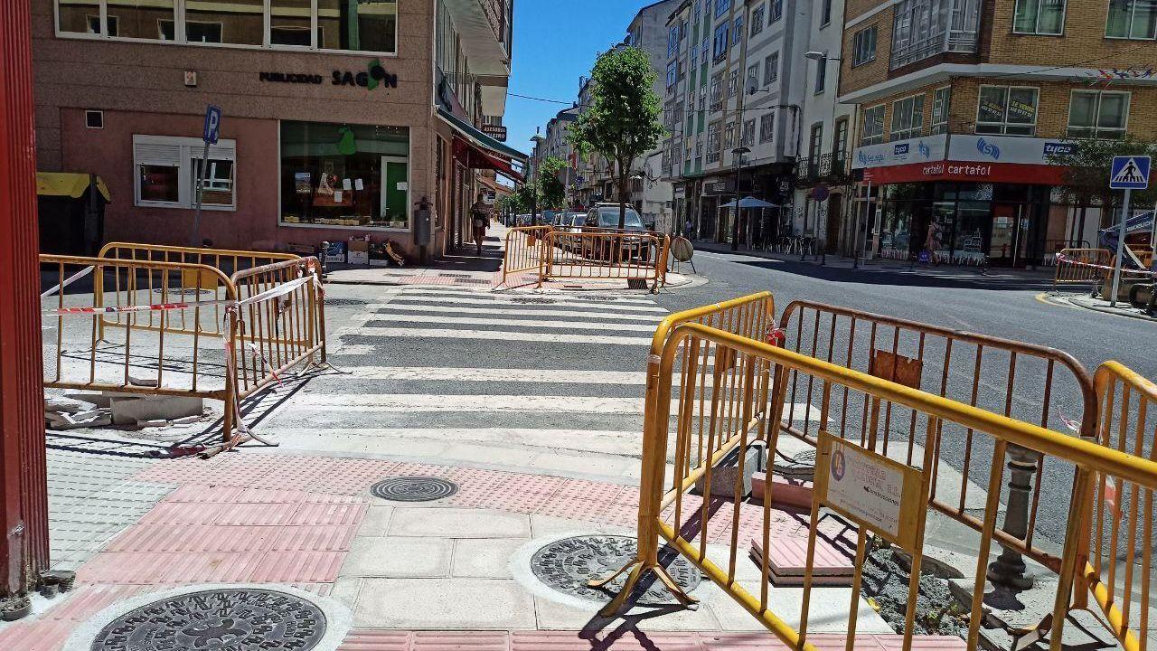 Obras para rebaixar 35 pasos de peóns de toda a cidade de Lugo