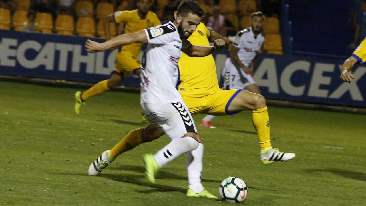 Pelayo Novo Albacete Real Oviedo.Pelayo, durante un encuentro con el Albacete esta temporada