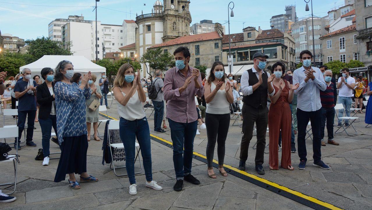 Mitin de Galicia en Común en Pontevedra antes das eleccións do 12 de xullo