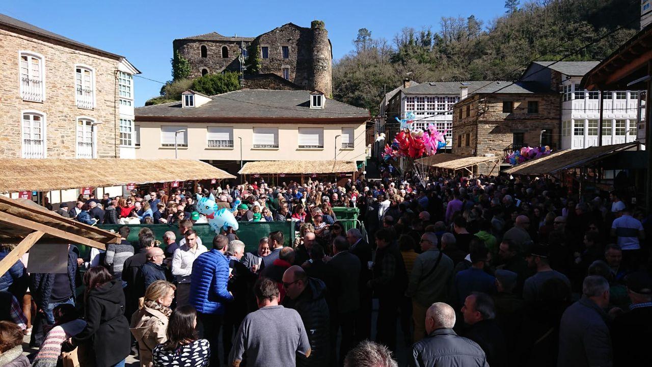 Navia de Suarna vive a tope la fiesta de la androlla.Pleno de la Diputación de Lugo, que preside José Tomé