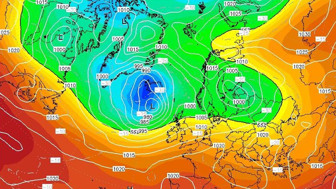 Una oscilación térmica de 36 grados.Imagen con el cartel de la próxima cita alemana sobre cambio climático