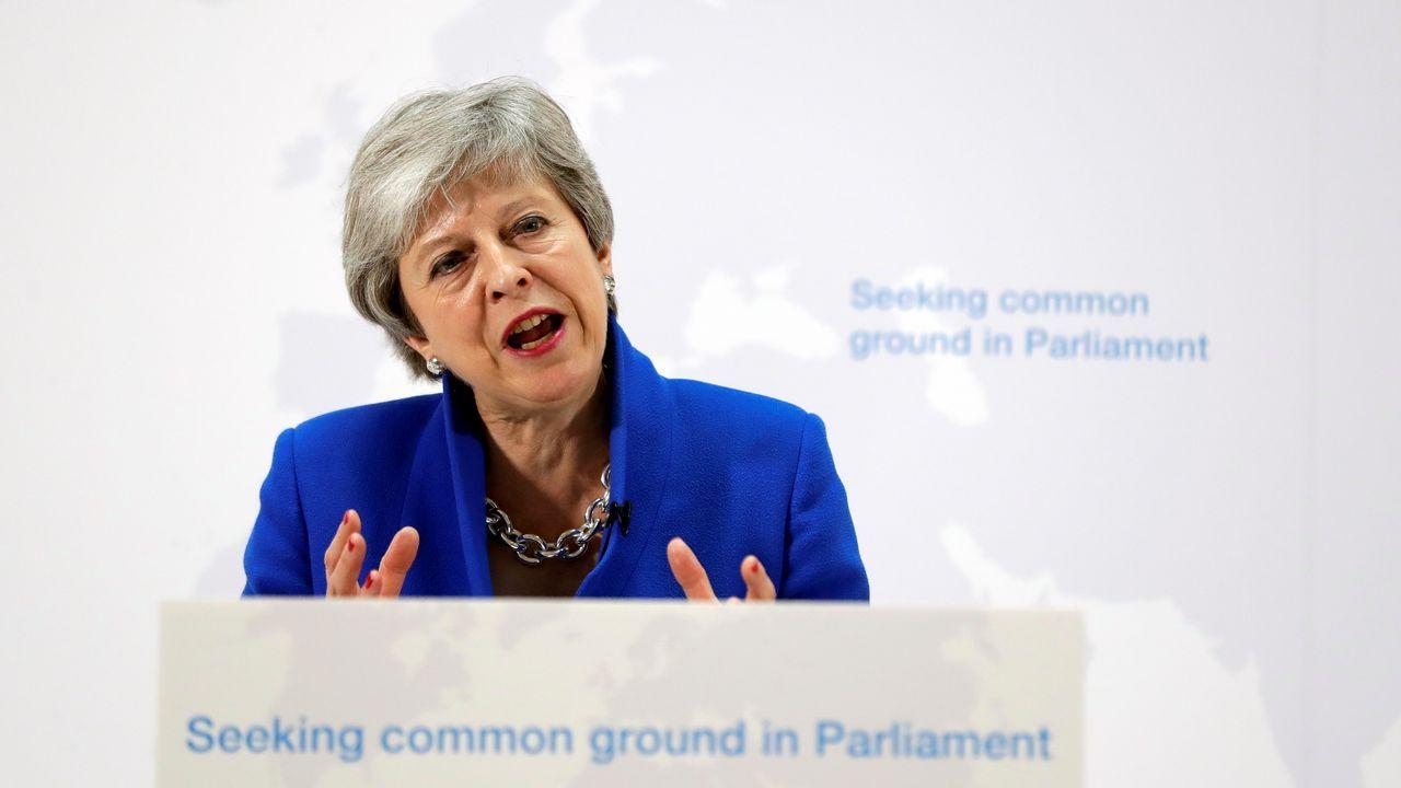 Theresa May, durante su comparecencia de este martes