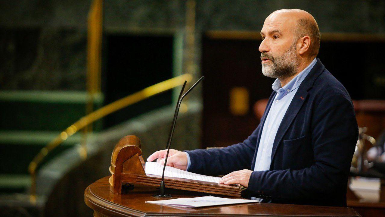 Comparecencia de Núñez Feijoo tras la reunión de Sánchez con los presidentes regionales.El diputado Néstor Rego.