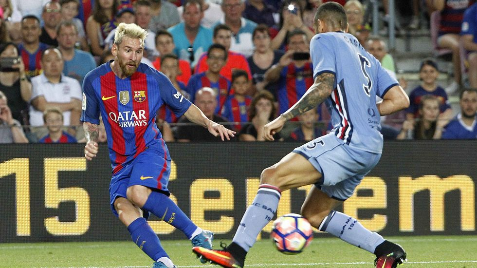 «Sería ridículo caer ahora en la necesidad».Sergi Roberto y Messi, cara y cruz del Barça para medirse al Dépor