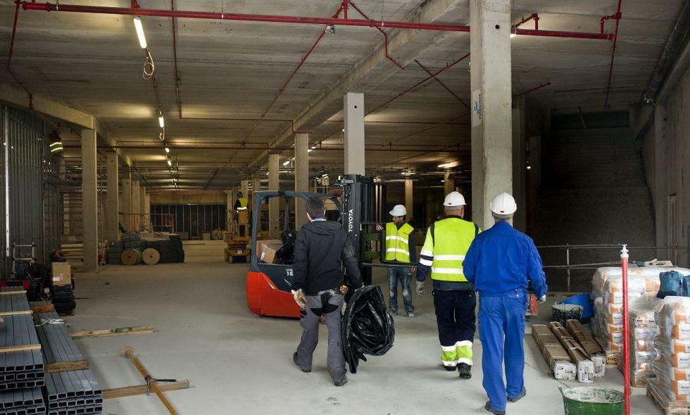 Avance de las obras donde se instalará la nueva tienda de H&M, en la foto tomada ayer.