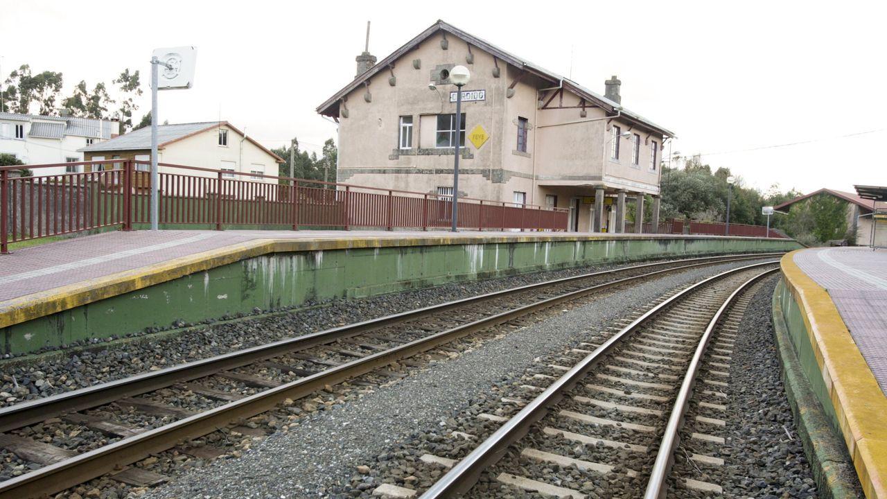 Estación de FEVE de Cerdido, en una imagen de archivo