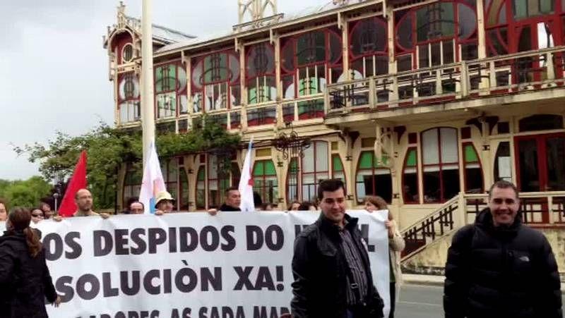 La selección española, su gran debilidad.Los empleados del hotel Sada Marina acudieron al pleno para intentar hablar con el alcalde