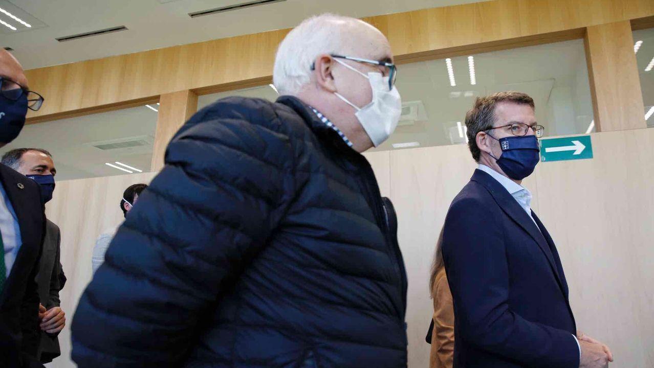 Centro de salud de Paderne de Allariz.Núñez Feijoo visitó este lunes el nuevo centro de salud de Paderne de Allariz