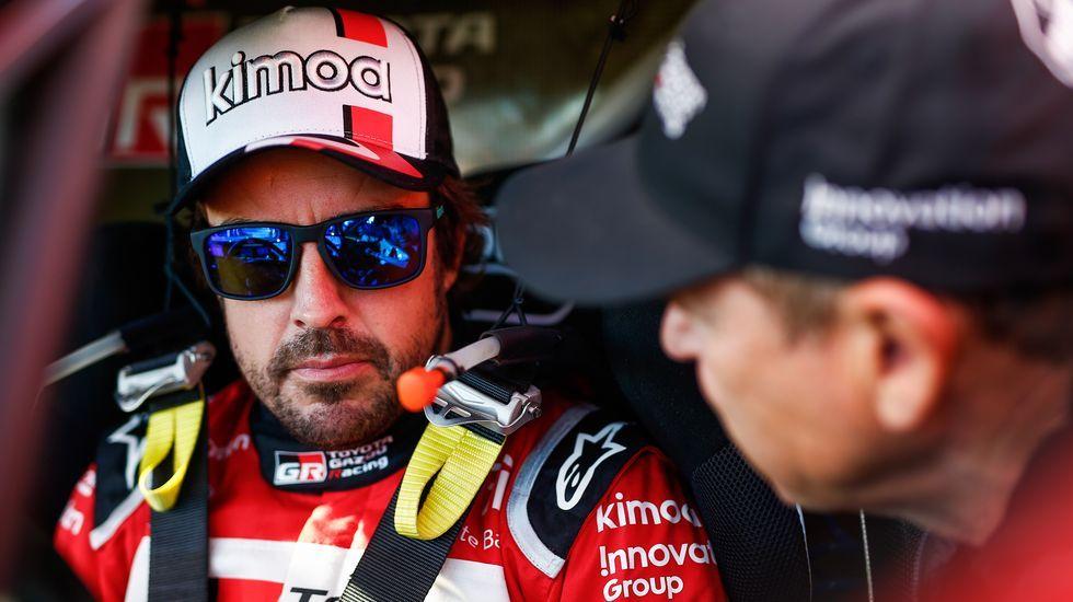 Alonso, tras la etapa