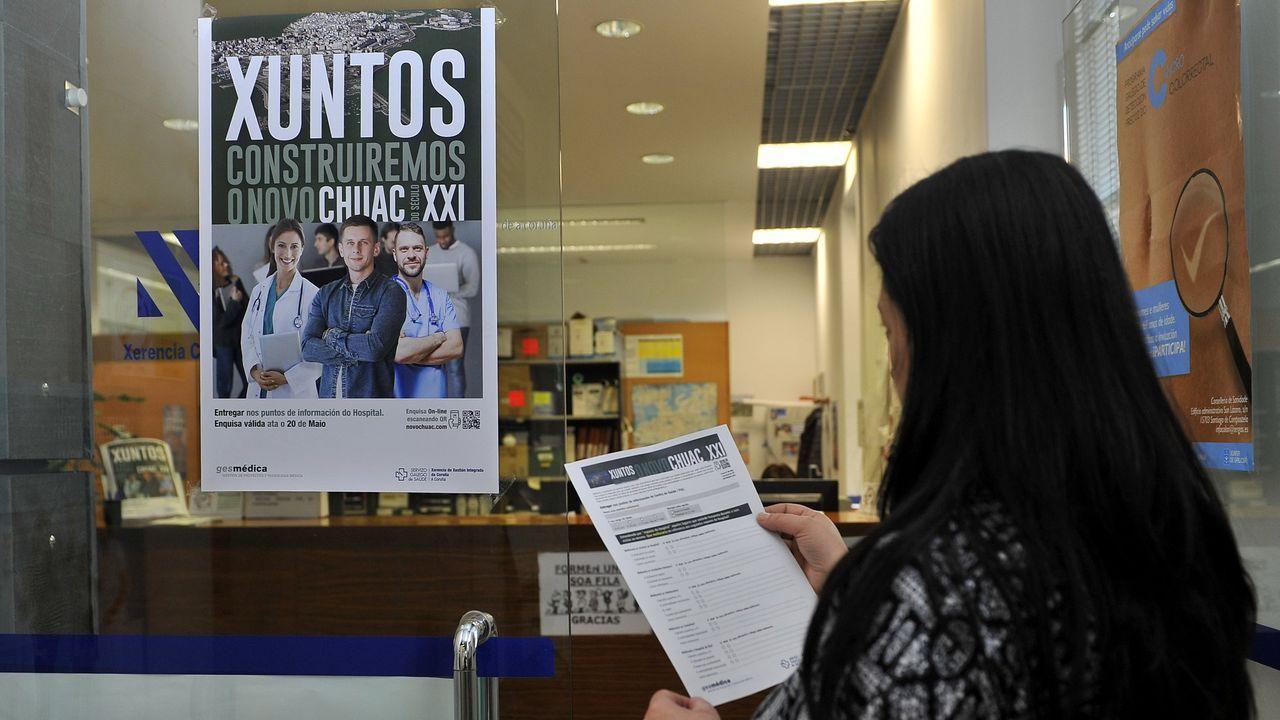 Carteles de la encuesta realizada para elaborar el plan funcional del Novo Chuac