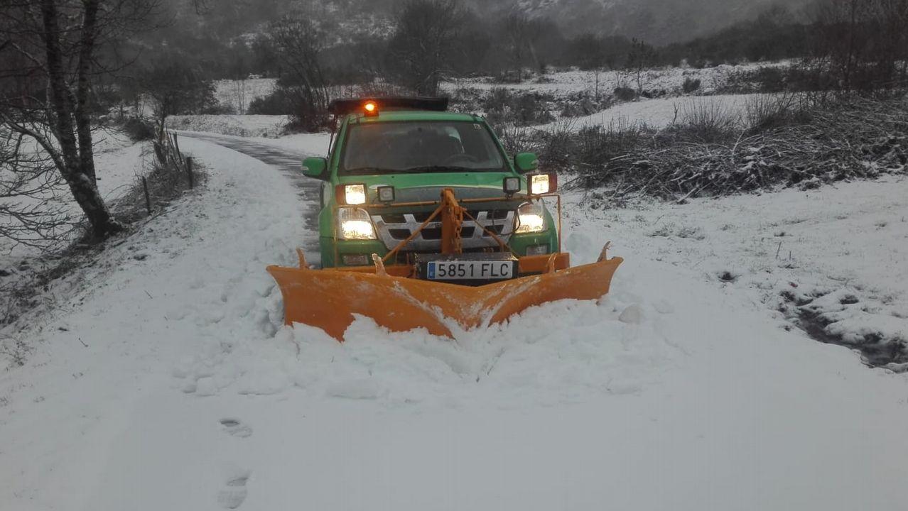 Nieve en las carreteras provinciales de Lugo