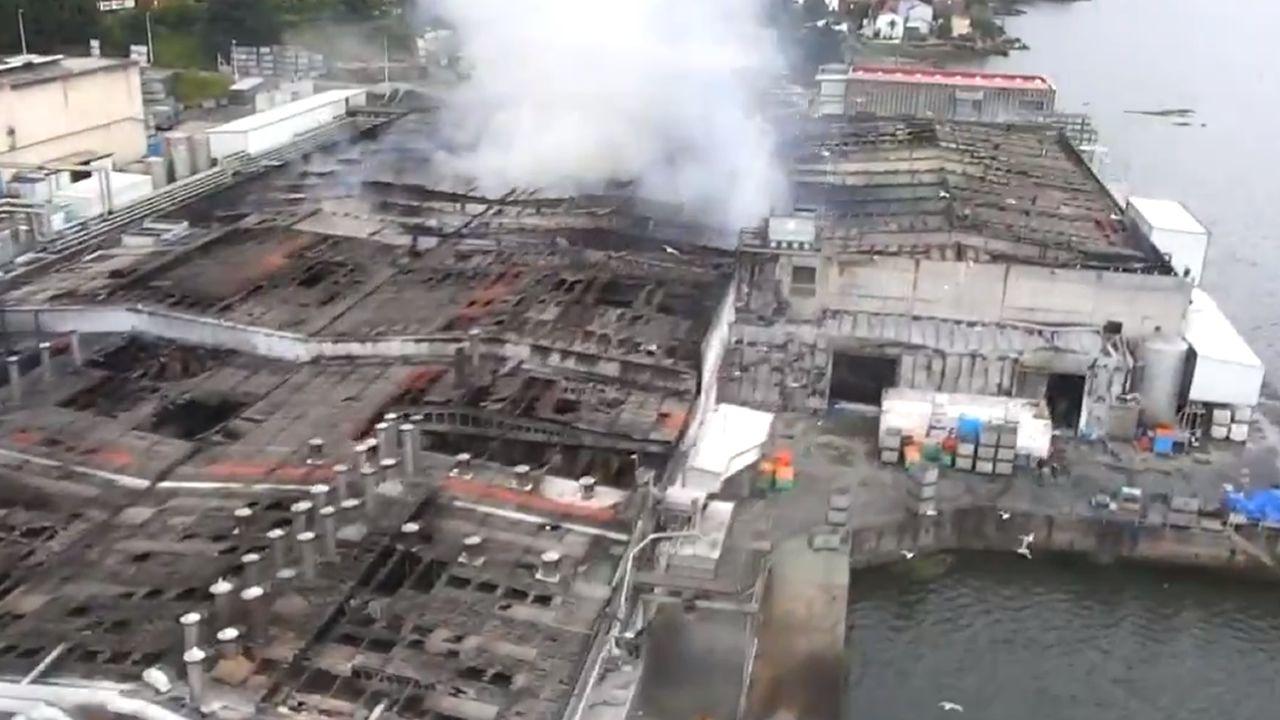 Así han quedado las instalaciones de Jealsa, a vista de dron