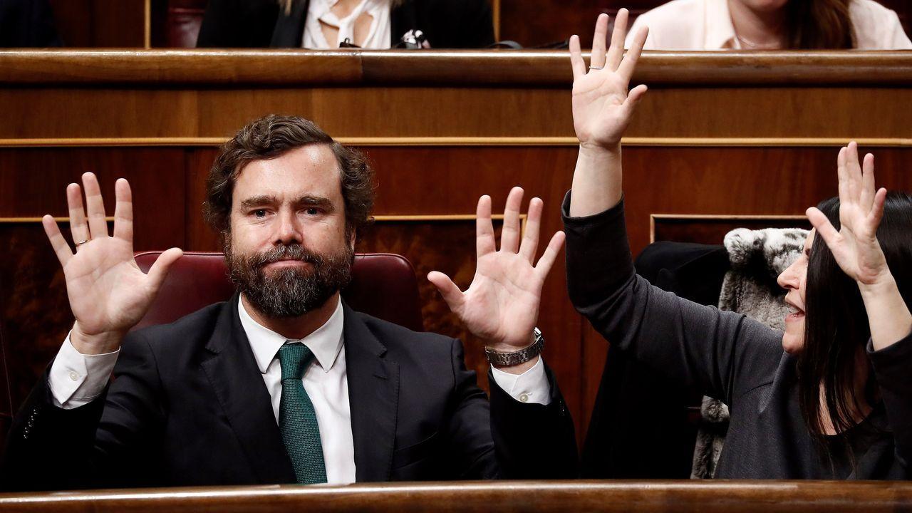 Comparecencia de Pedro Sánchez en el Congreso.El diputado de Vox, Iván Espinosa de los Monteros
