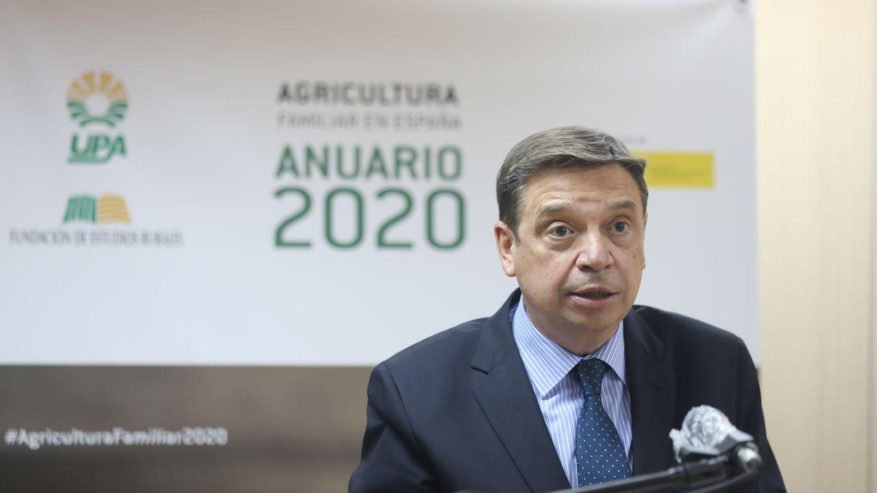 Luis Planas durante la presentación del Anuario de Agricultura Familiar de UPA 2020