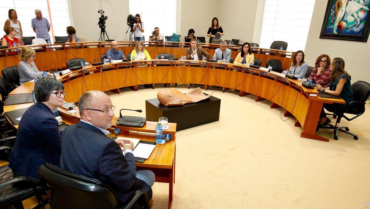Constitución de la comisión de investigación para el accidente de O Marisquiño, hace dos años