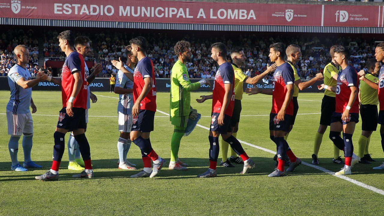 Las imágenes del partido entre el Racing y la Ponferradina