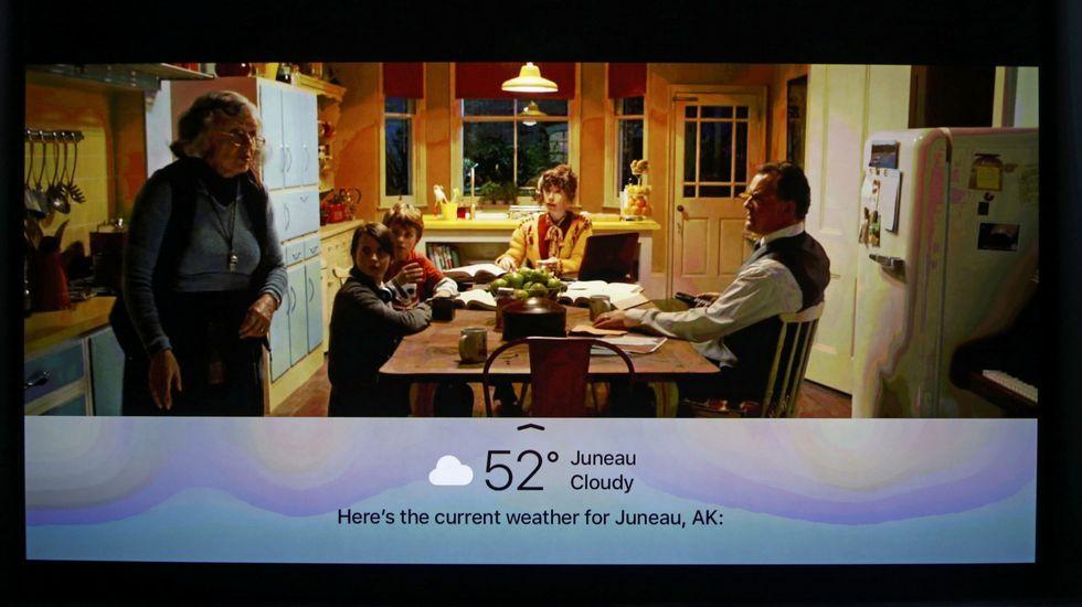 Dentro de Apple TV, se podrá interactuar con Siri.