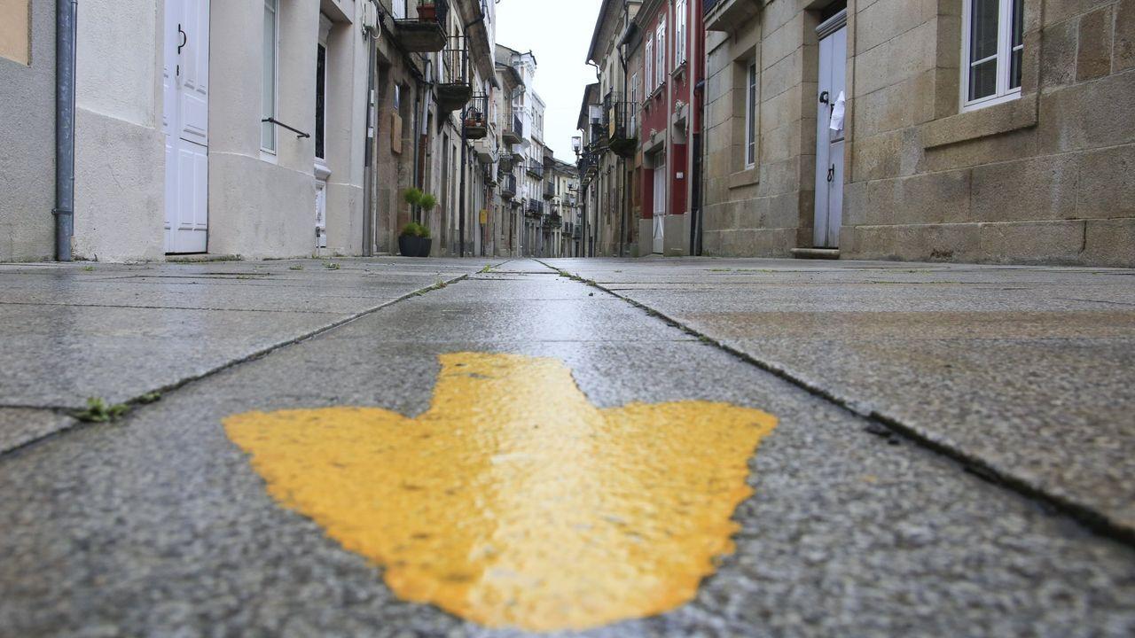 La afluencia del Camino de Santiago en Sarria favorece la aparicion de pisos de uso turistico.
